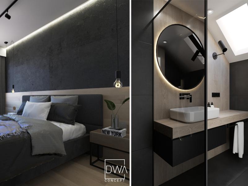 projekt sypialni architekt wnetrz krakow