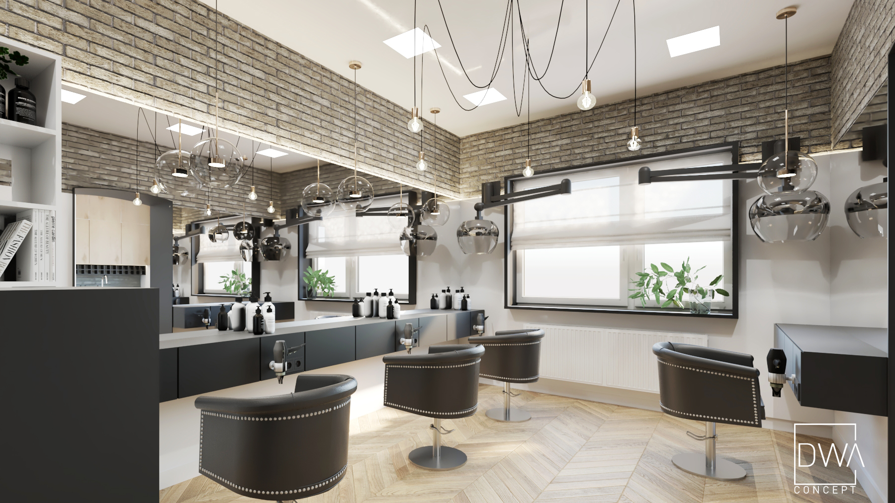 projekt salonu fryzjerskiego