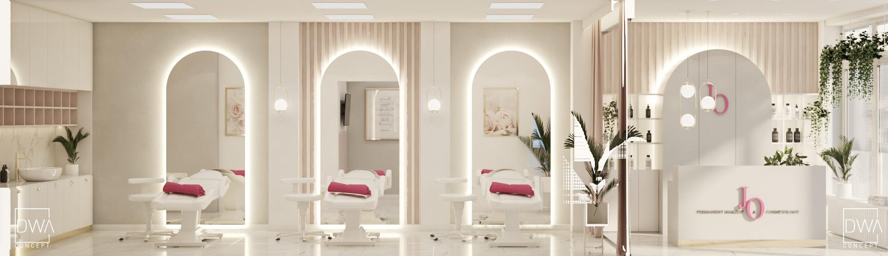 salon kosmetyczny projekt architekt wnętrz dwaconcept